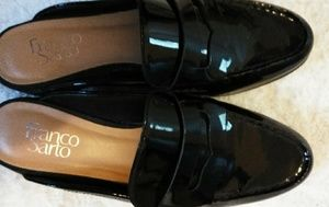 Franco Sarto,patent loafers,mules size 8